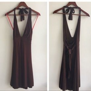 NWT Free People Chocolate Halter Dress - L